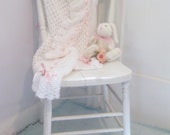 Reduced, Baby Blanket, Blanket, Christening Blanket, Crochet, Throw, Handmade, Crib Blanket, by enfantjoli on etsy