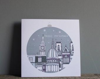 SALE - London Christmas Card- Cityscape Architecture