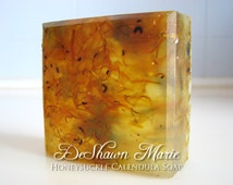 SOAP- Honeysuckle Calendula Soap- Handmade Soap - Vegan Soap - Glycerin Soap- Soap Gift