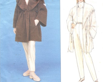 Vogue 1483 French Designer Montana Misses Oversized Drawstring Coat and Pants Pattern Womens Sewing Pattern  Size 6 8 10  Bust 30 - 32 UNCUT