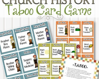 Church History Taboo Game - INSTANT DOWNLOAD