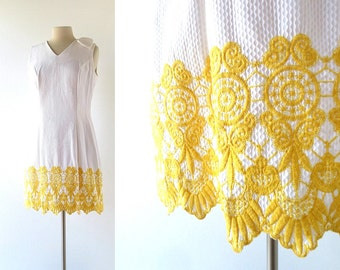 Vintage 1960s Dress | Porta del Castello | Embroidered Dress | 60s Dress | M L