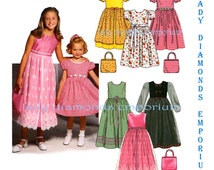 Simplicity 9497 Girls Purse & Dress w Option Overskirt size 7 8 10 12 14 Teen Tween Special Occasion Dress 6 Made Easy Sewing Pattern Uncut