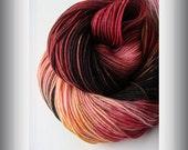 Sock Yarn, Hand Dyed Yarn, Superwash Merino Nylon,