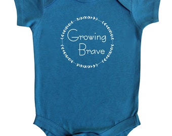 Growing Brave Baby Bodysuit