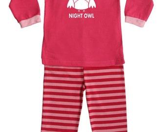 Night Owl Silhouette Baby and Toddler Pajama Set