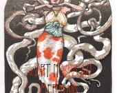 The Art Nouveau Mermaid Coloring Book