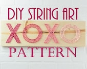 DIY Kisses and Hugs String Art Pattern - XOXO