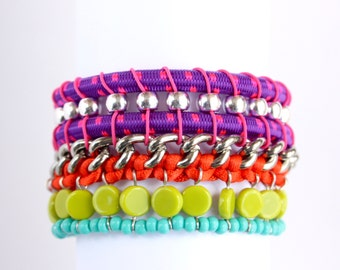 BOCACHICA colorful statement bracelet with magnetic clasp