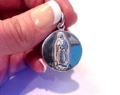 Vintage 925 GUADALUPE Religious Charm and Pendant- 6.6g- made in Mexico