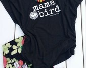 Mama Bird Dolman Shirt in Vintage Black