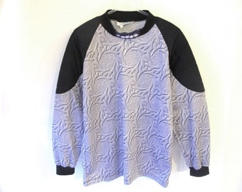 90s DIADORA Motocross Grey Long Sleeve Tribal Top with Padded Elbows Large
