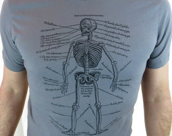 Clearance-- Anatomical Skeleton Diagram Men's Tshirt