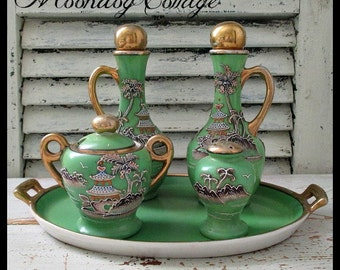 GoRGeouS ViNTaGe JaPaNeSe SeRViNG SeT - 1940's - FiVe PieCeS
