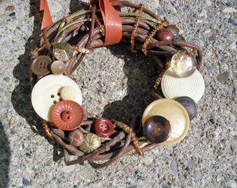 Small Golden Rust Grapevine Wreath