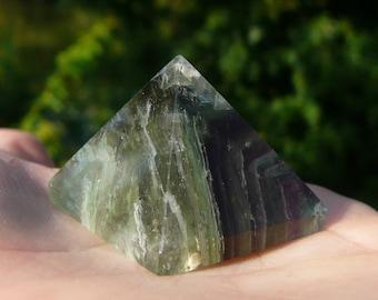 Green Fluorite Pyramid #3 ~ Crystal Pyramid, Chakra, Crystal Healing, Reiki, Metaphysical, Meditation, Sacred Geometry, Hippie, Yoga, Fairy