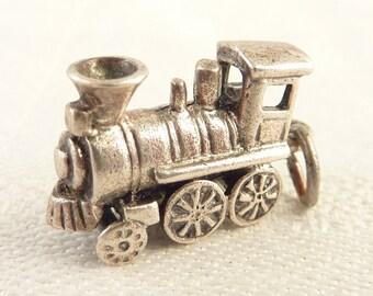Vintage Sterling Train Engine Charm