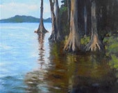 Cypress Gardens, 8x10 Oil Painting on Canvas panel, Daily Painting