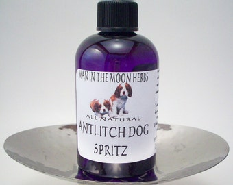 Anti Itch Dog Spritz - All Natural Itch Relief and Insect Repellent - Non Toxic Flea and Tick Spray - Witch Hazel Essential Oils Vitamin E