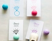 EOS Lip Balm Holder for Bridal Shower Favors, Bridal Shower Engagement Ring Lip Balm Favor