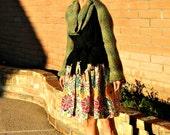 Maternity Skirt-Maternity Dress-Womens Skirts-One of a Kind Hand Looped Layered Lofdahl Wrap Skirt-Chic Modern Women's Clothing-Many Sizes