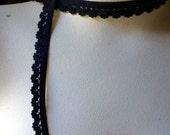 10 yds. Black Elastic Scalloped Edge Loop for Lingerie, Garments EL