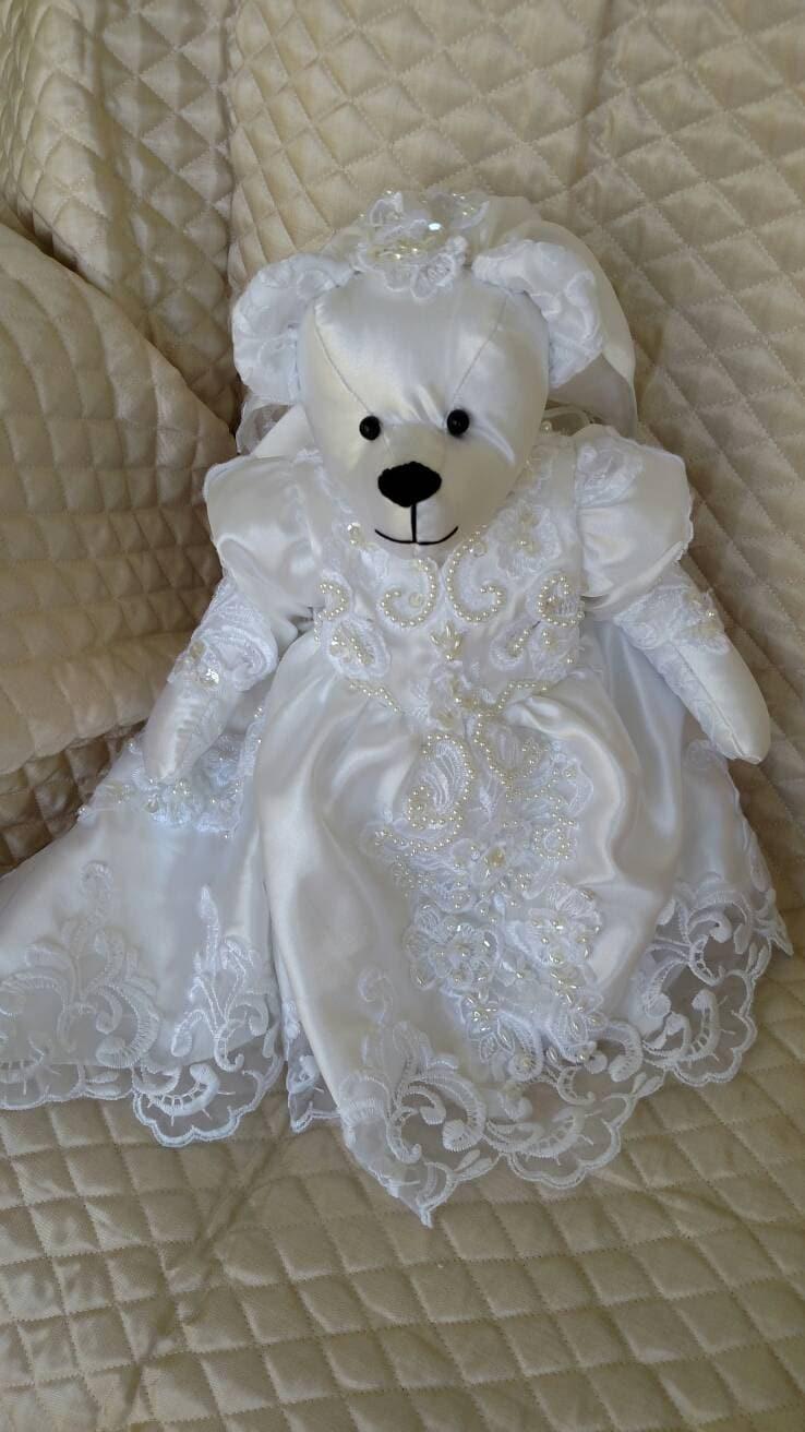 Memory Bear Made From Wedding Dress