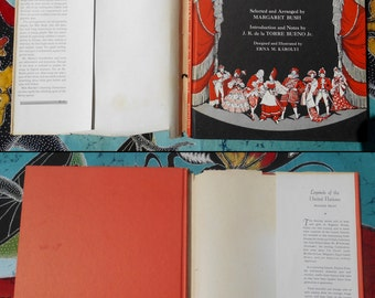 1946 Gilbert & Sullivan Songs For Young People Margaret Bush Erna M Karolyi Whittlesey House children's book illustrated manuscript music