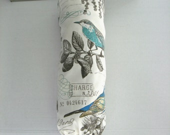 Plastic Bag Holder, Grocery Bag Holder, Plastic Bag Dispenser, Bag Organizer, French Birds Farmhouse Decor
