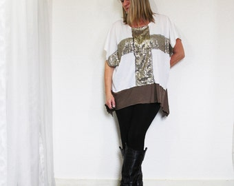 upcycled clothing .  M - XL . top