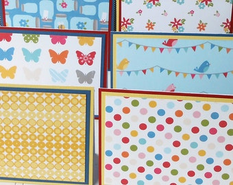 Notecard Set: 6 Different Blank Cards with Matching Embellished Envelopes - Perfect Picnic