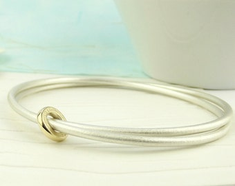 18ct Gold Spinner Eternity Bangle - silver bangle - solid silver bangle - gold bangle - silver gold bangle