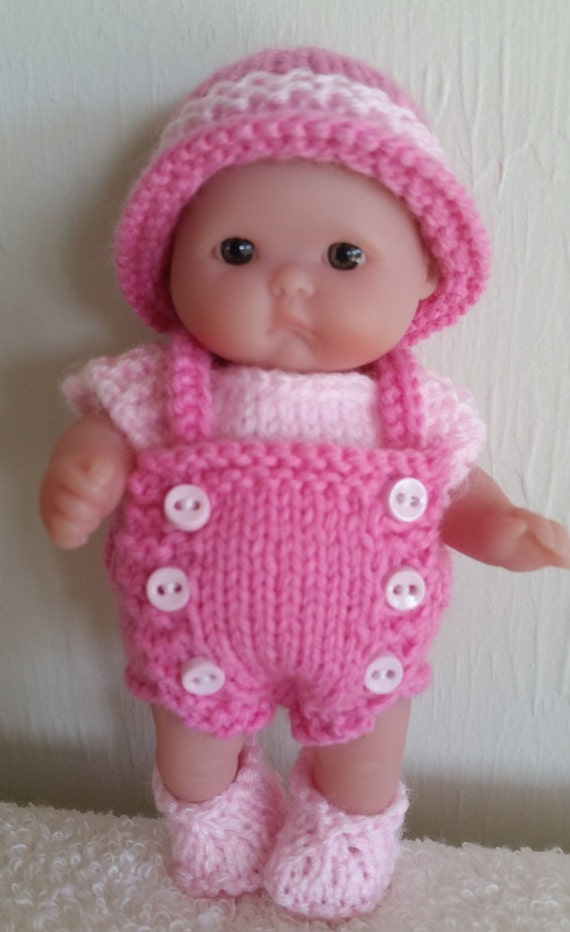 Berenguer Knitting Pattern 5 Inch Chubby Bib Front Romper