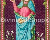"""Icon St Emerentiana Martyr of Rome 5"""" X 7"""" Print. Gorgeous. Sister of St. Agnes."""