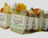 Guest Soap Samples. U choose 6 sample soaps. .Ea. 2.1-2.5 oz.Great party favors. Made by Nana J's Handmades.Free Shipping