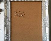 Silver Ornate Cork Board