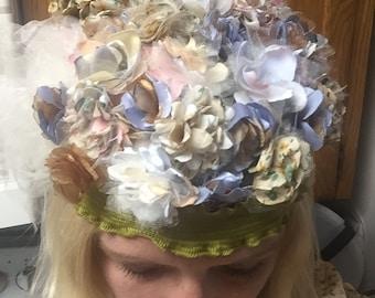 Flo- Floral Flapper Hat, Prohibition Bands