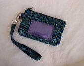 zip id holder - cell phone wallet - id pouch - card holder wallet - small wallet - cell phone wristlet - stocking filler MADE to ORDER