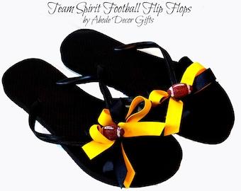 Flip Flops, Football, Football Flip Flops, Gift, Football Team, NCAA Flip Flops, NFL Flip Flops, Women's Flip Flops, College Flip Flops