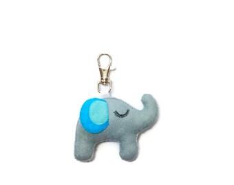 Elephant Keychain - Animal Keyring - Elephant Bag Charm  - Elephant Charm - Elephant Charms - Elephant Gift - Mothers Day Gift