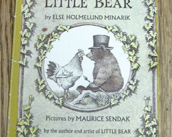 vintage 60s childrens picture book A Kiss For Little Bear illustrated by Maurice Sendak