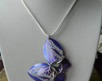 Butterfly Pendant with Purple