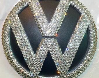 VW Volkswagen Trunk Emblem made with Swarovski Crystals - 2011 - 2015 Passat / Jetta - Car Jewelry
