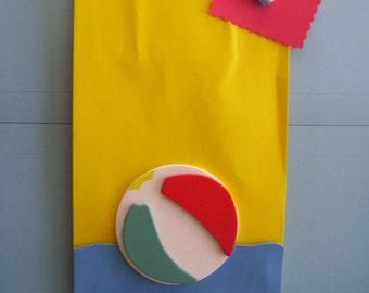 beach ball favor bags, pool party favor bags, beach birthday party