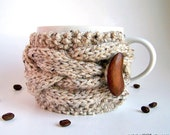 Coffee Cup Sleeve, Coffee Cup Cozy, Knit Coffee Cozy, Coffee Mug Cozy, Tea Cozy, Coffee Sleeve, Cup Cozy, Gifts Under 20, Chunky Knit