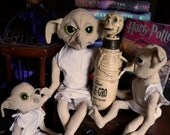 Plush Jointed House Elf inspired by the Harry Potter Series
