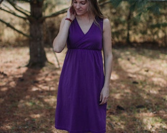 Womens Cotton Criss Cross Dress Women's Cotton Clothing - Made in the USA - Made to Order - Revive