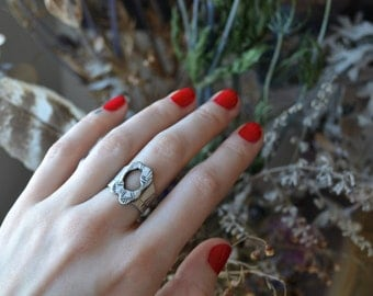 Molten Circle Weaver Silver and Ring size 6