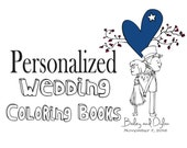 RUSTIC Wedding Coloring Book for your Ring bearer of Flower Girl - Customize - Personalized Wedding Coloring book - Kids Wedding Favor
