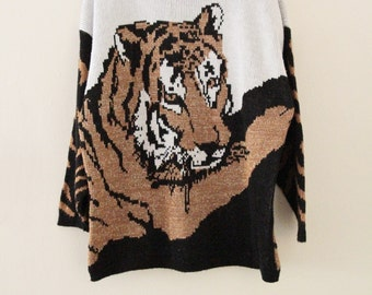 80's Tiger Winter Sweater